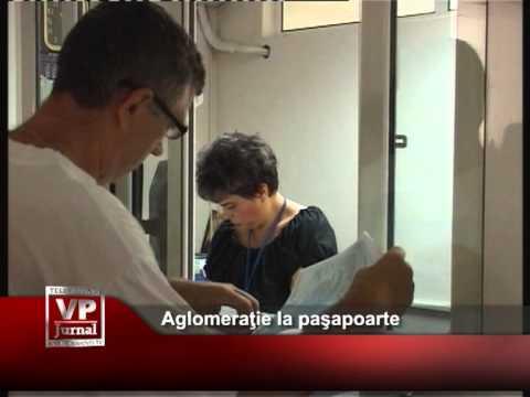 Aglomeraţie la paşapoarte