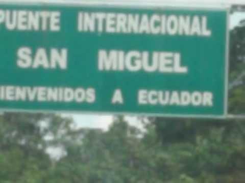 RIO SAN MIGUEL EN LAGO AGRIO (FRONTERA ECUADOR -COLOMBIA)