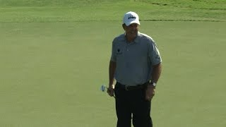Phil Mickelson dials in approach at the TOUR Championship by PGA TOUR