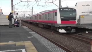 【通過シーン集#28】京葉線 市川塩浜駅 (速度付き)