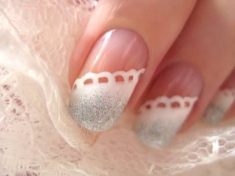 bride wedding nail art