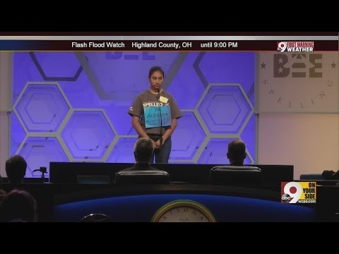 Finals at Scripps National Spelling Bee 2014
