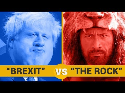 BREXIT VS THE ROCK - Google Trends Show