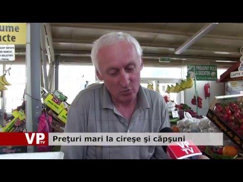 Prețuri mari la cireşe şi căpşuni