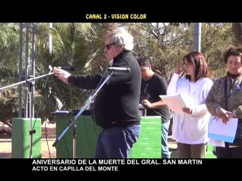 ACTO EN CAPILLA DEL MONTE: DISCURSO DEL HISTORIADOR CLAUDIO MAZA EN EL ACTO DE SAN MARTIN