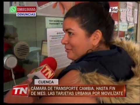 Cámara de transporte cambia hasta fin de mes las tarjetas Urbania por Movilízate