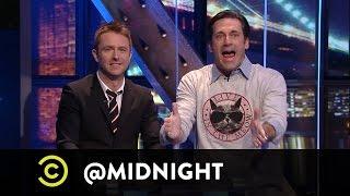 Jon Hamm Shares His Love Of Cats With Nikki Glaser, John Mulaney And Judah Friedlander On @midnight