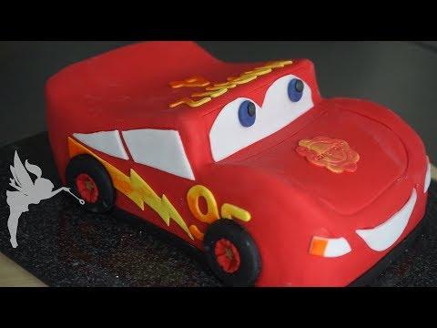 Lightning McQueen Torte - Cars Fondant 3D Motiv Torte - Cars Torten Tutorial - Kuchenfee
