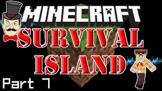 Minecraft: SURVIVAL ISLAND - Man Overboard! Still No Sheep&Creeper Goes Boom! (Part 7)