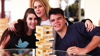 EXTREMELY FUNNY JENGA CHALLENGE!! W/Jelly & Leah