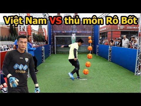Thử Thách Bóng Đá sút Penalty với thủ môn Robot đỉnh như Bùi Tiến Dũng U23 Việt Nam World Cup 2018 - Thời lượng: 10:08.