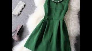 темно зеленое короткое платье черные колготки