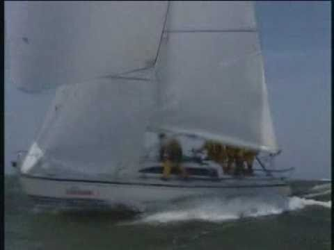 X99 Bleunose sailing downwind at 18.4 knots