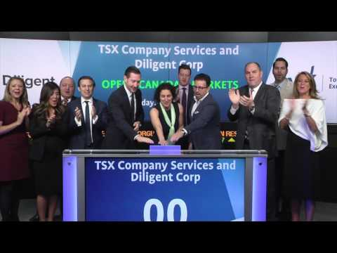 TSX Company Services and Diligent Corp. opens Toronto Stock Exchange, April 28, 2017