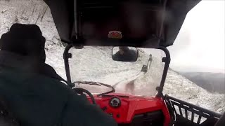 10. Snow Ride in my Polaris RZR 570  Dec 29 2013
