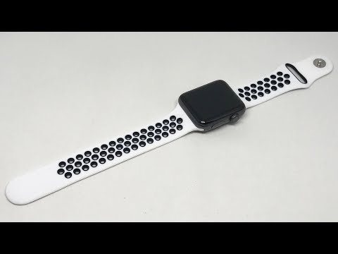Noya Apple Watch Band Soft Silicone Replacement Nike Sport Strap (42mm, White/Black)【4K】