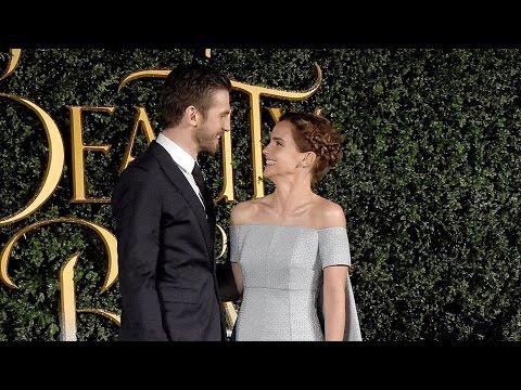 Beauty and the Beast UK Premiere - Emma Watson, Dan Stevens, Luke Evans, Josh Gad, Emma Thompson (видео)