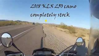 6. 2018 KLX 250 camo top speed.