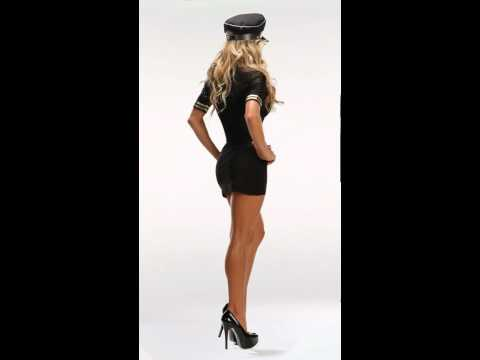 Sexy Pilot Costumes, Women's Airline Captain Halloween Costume (видео)