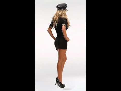 Sexy Pilot Costumes, Women's Airline Captain Halloween Costume (видео)