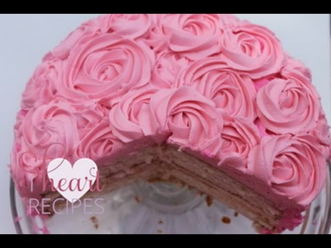 Desserts by Rosie: Vanilla Rose Swirl Cake – I Heart Recipes