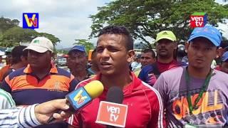 Trabajadores del Central Azucarero Motatán cerraron la vía en protesta