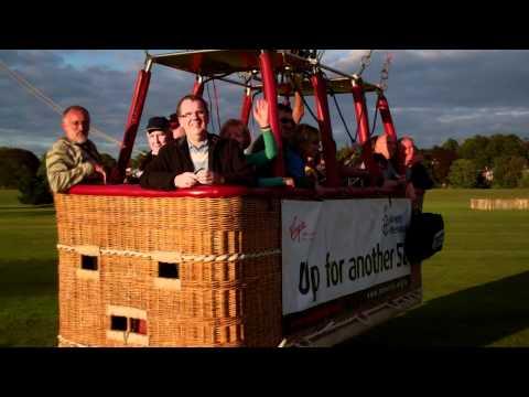 Virgin Hot Air Balloon Flight North Inch Perth Scotland