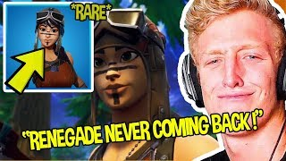 STREAMERS REACT TO RENEGADE RAIDER NEVER COMING BACK *RARE* OG MALE | Fortnite Funny Moments