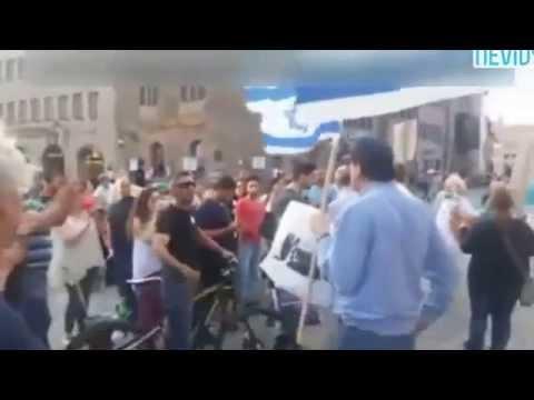 İsraile destek yürüyüşünde doğruları haykıran muhteşem Türk (Filistin)