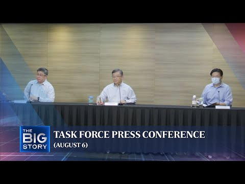 Task force press conference | Covid-19 cases should drop by end-Aug: Lawrence Wong (Aug 6)
