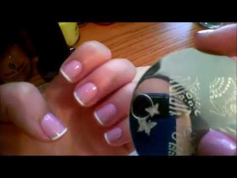 How to do a french tip using masking tape.wmv