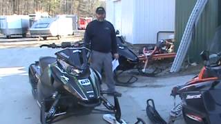 8. 2013 arctic cat f 800 snopro vs.2013 f 800 RR tucker hibbert drag race at livingstons