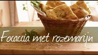 Focaccia met rozemarijn
