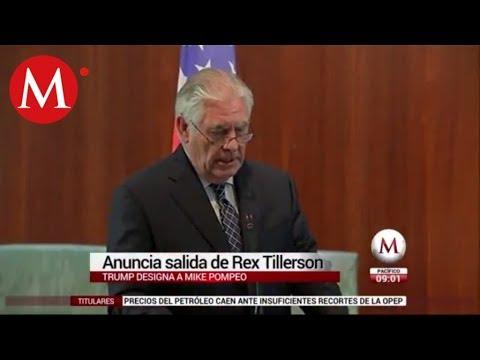 Rex Tillerson deja la Secretaría de Estado de EU