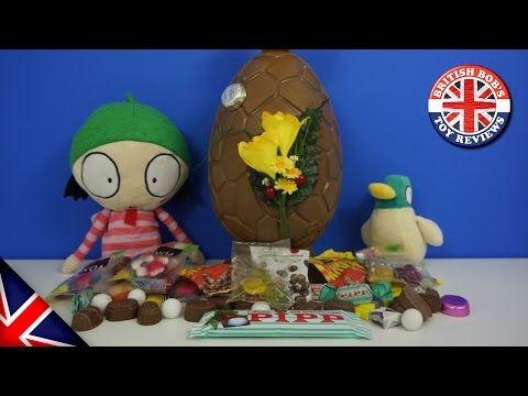 Sarah and Duck Soft Toys with a Huge Chocolate Easter Egg Surprise | British Bobs Toy Reviews