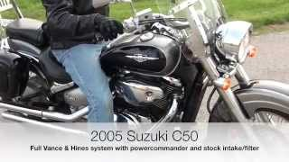 10. Suzuki Boulevard C50 - Vance & Hines exhaust sound review HD