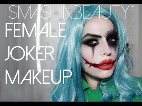 Sexy Female Joker Halloween Makeup Tutorial 2014