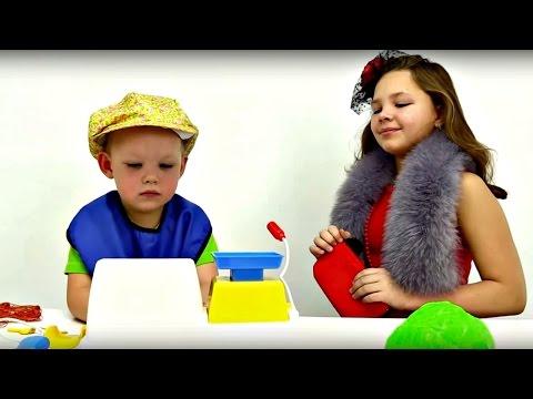 Играем в супермаркет. Развивающее видео для детей. (видео)
