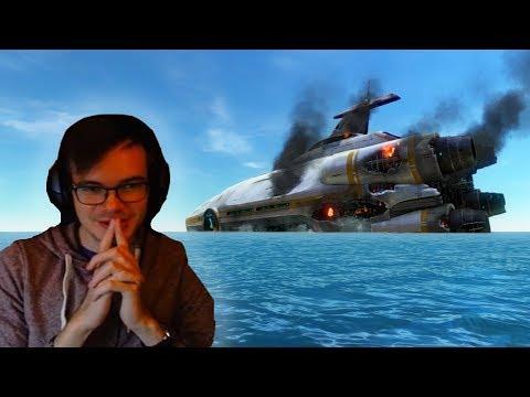 Subnautica: Scared Boy vs The Aurora (видео)