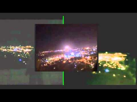 UFO over Jerusalem synced 3 videos