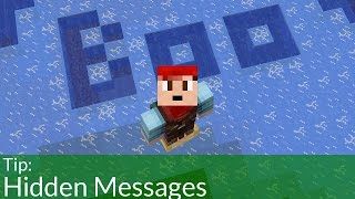How To Make Hidden Messages in Minecraft