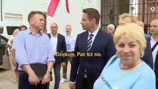 Zobaczcie jak cyngiel z TVP Info udawał Amerykanina, aby podpuścić Trzaskowskiego !