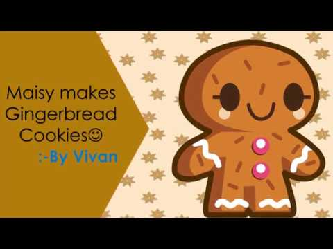 Maisy makes Gingerbread cookies