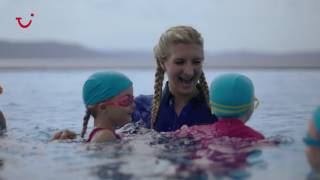 Olympic gold medallist, Rebecca Adlington, OBE, runs a surprise swim session at the TUI FAMILY LIFE Bellevue Resort in Croatia. Think a fun-filled swimming lesson, an inflatable race, an awards ceremony and more... Browse our TUI FAMILY LIFE holidays at thomson.co.uk/holidays/family-lifeConnect with us:Facebook: facebook.com/thomsonholidays Twitter: twitter.com/thomsonholidays Instagram: instagram.com/thomsonholidays
