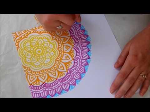 Mandala rajzolás / Mandala drawing