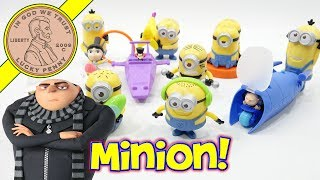 2017 Despicable Me 3 Minions McDonald's Happy Meal Toys Full Set - Here is the next set for my McDonald's 2017 Happy Meal Series.  There were 12 toys in this set and I do not remember any of these as being re-peaty toys from past sets.  I will continue showing Happy Meal Toys from past and present because they are still very popular toys.  I do like the vintage sets a little bit more because they are hard to find complete with the original Happy Meal Box.Lucky Penny ThoughtsLPS-DaveLater!▶ About UsLucky Penny Shop is a family-friendly YouTube channel that features videos of kids food maker sets, slime, putty, new & vintage toys, games and candy & food from around the world! There are over 5500 videos!▶ Product Info2017 Despicable Me 3 Minions McDonald's Happy Meal Toys Full SetVisit us online ▶ http://www.luckypennyshop.com/shop/#1 Banana Launcher Minion Toy#2 Rocket Racer Minion Toy#3 Groovin' Minion Toy#4 Bru's Hydrocycle Toy#5 Crab Bite Minion Toy#6 Agnes' Rockin' Unicorn Toy#7 Bratt's Rad Speedboat Toy#8 Pumping Iron Minion Toy#9 Pass The Minion Toy#10 Despicable Deck#11 Hilarious Hockey Minions Toy#12 Banana Flipper Minion Toy▶ Watch More VideosMcDonald's 2017 Happy Meal Toys - Fast Food Toys - Kids Meal Toys Review https://www.youtube.com/watch?v=ubrHhKWqQ_w&index=1&list=PL27_x9U5H26uOEJOHKMpjCQZ8QMnkV-iUIZ McDonalds 2006 Happy Meal Fast Food Kids Toyshttps://www.youtube.com/watch?v=8idiuGZC_OcKids Under 3 McDonalds 1996 Happy Meal Fast Food Toy Set https://www.youtube.com/watch?v=Iyz8NuEG-lsTeenie Beenie Boo's McDonald's 2017 Happy Meal Kids Fast Food Toy Reviewhttps://www.youtube.com/watch?v=v4RUqUPmsVE▶ Follow UsTWITTER  http://twitter.com/luckypennyshop FACEBOOK  http://www.facebook.com/LuckyPennyShopINSTAGRAM  http://instagram.com/LuckyPennyShopGOOGLE+  https://plus.google.com/+luckypennyshopPINTEREST  http://www.pinterest.com/luckypennyshop/LPS WEBSITE  http://www.luckypennyshop.com/Sound Effects by http://audiomicro.com/sound-effectsThis video is not in