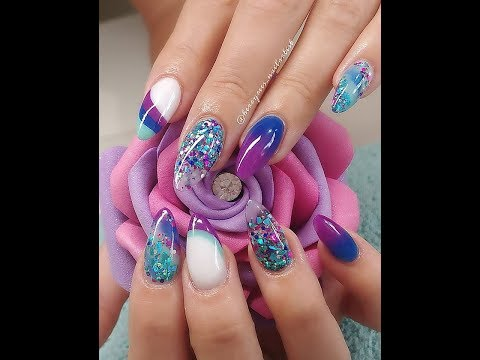 Acrylic Nails with Cut Out Design all CJP
