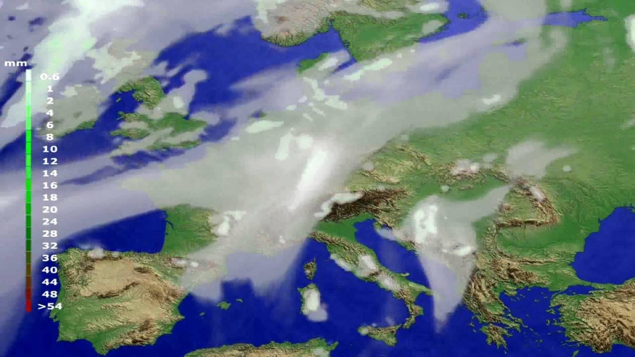 Precipitation forecast Europe 2016-06-18