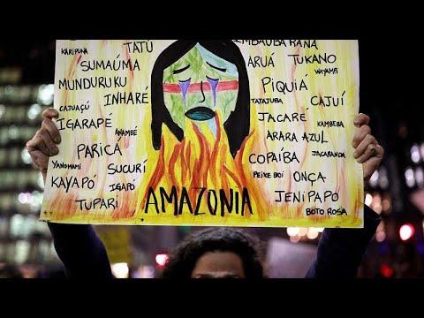 Διαμαρτυρίες για τις πυρκαγιές στον Αμαζόνιο-Διεθνείς πιέσεις…