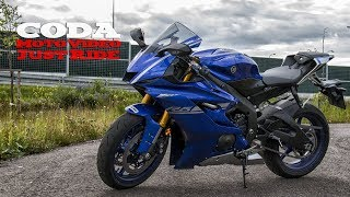 10. YAMAHA YZF-R6 2017 ABS daily ride  + Akrapovic exhaust sound - test ride - CMV